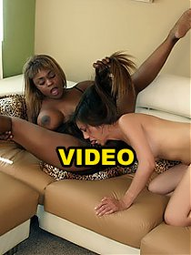 Coco Pink and Leilani Ai are naughty lesbians with hairy twats lezzing out on webcam