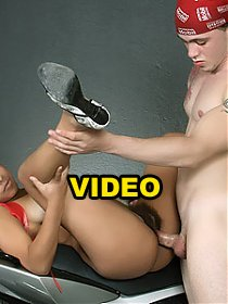 Ticiany rubbing her bush covered clit while a cock slides inside her hairy pussy live
