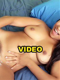 Outrageously hot scene with natural hairy chick Laurie Vargas enjoying a black shaft