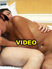 Lovely Latina Lorany rubbing her hair covered clit while she rides a raging meat shaft